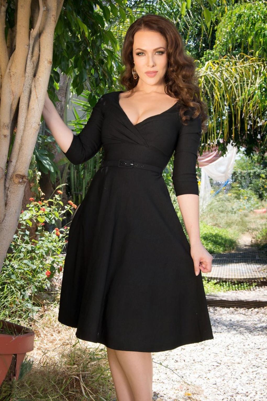 50s Erin Swing Dress in Black