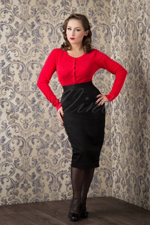 Bunny 50s Frankie Skirt in Black 120 10 10938 20151016 393W