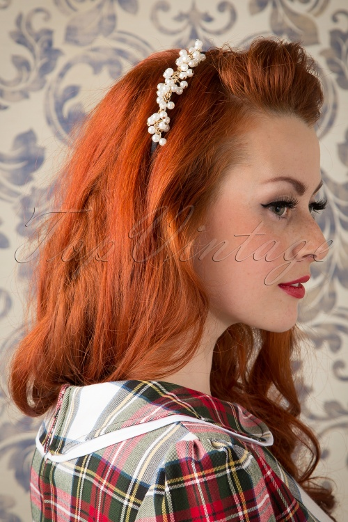 Lola 50s I Say Yes To The Pearl Hair Band 208 51 16005 20151019 524W