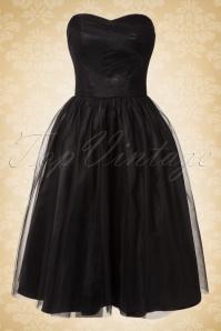 50s Tamara Party Dress in Black