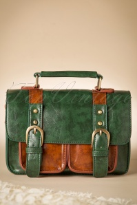 50s Leila Messenger Bag in Green