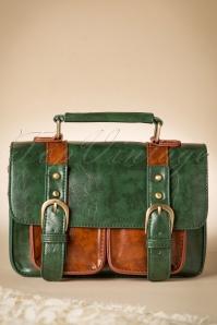 Leila Messenger Bag Années 1950 en Vert