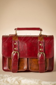 Leila Messenger Bag Années 1950 en Rouge