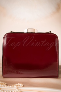 60s No Mercy Clutch in Burgundy and Black