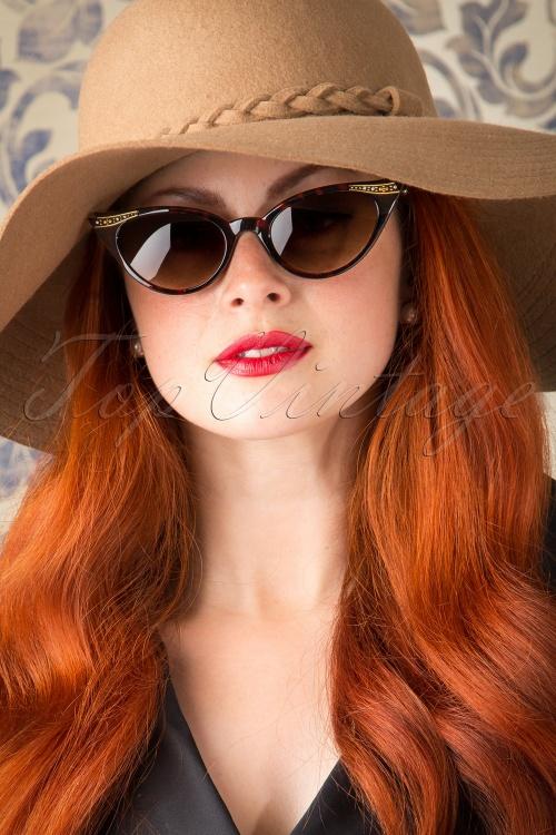 So Retro  50s Vintage Cat Eye Diamond Sunglasses in Tortoise 260 79 13238 20151016 143W
