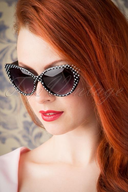 So Retro  Black White dotted Sunglasses 260 14 15007 20151016 112W