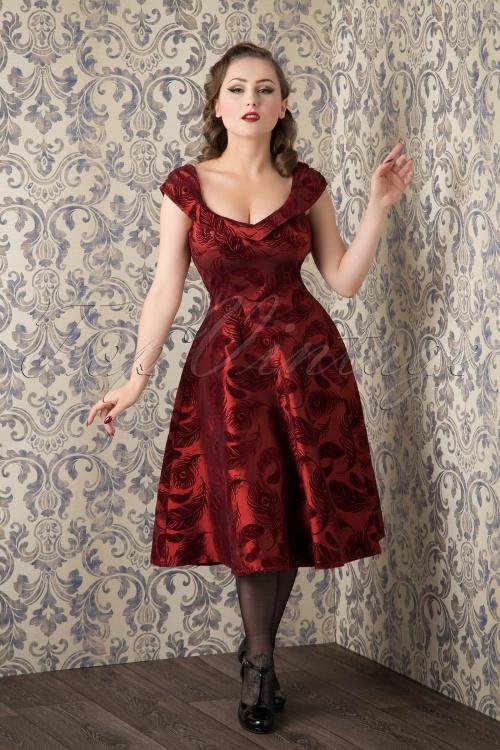 Vixen 50s Cora Feather Dress 102 20 16300 20151016 008W