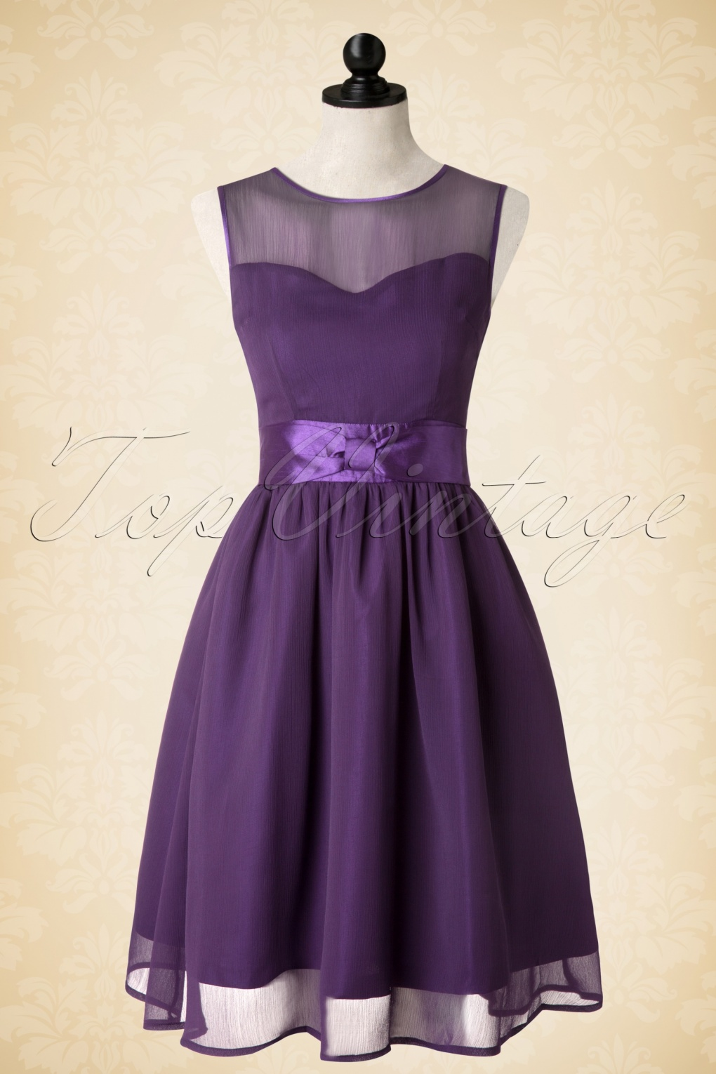 50s Candy Party Prom Dress in Purple