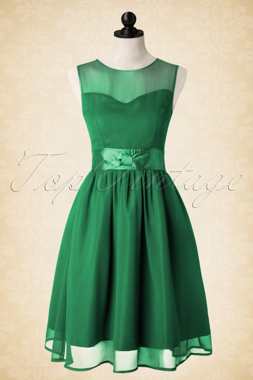 50s candy party prom dress in green