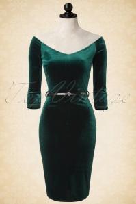 Vintage Chic Velvet Pencil Off Shoulder Dress 100 40 17281 20151029 0007pop