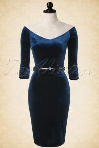 Vintage Chic Velvet Pencil Off Shoulder Dress 100 40 17282 20151029 009pop