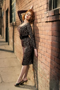 Pinup Couture Hotrod Honey Leopard Dress By Micheline Pitt 100 58 17171 7