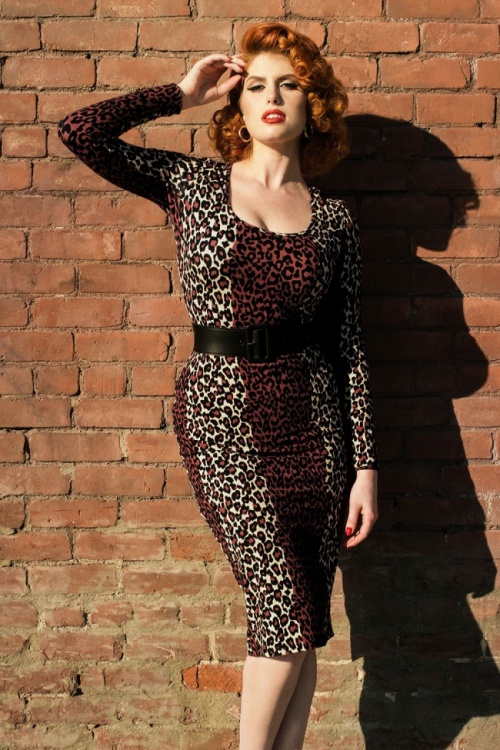 Pinup Couture Hotrod Honey Leopard Dress By Micheline Pitt 100 58 17171 5