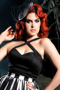 50s Deadly Dames Vixen Top in Black