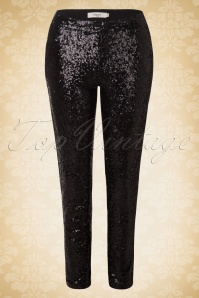 Daphne Paris Glitter Sequin Black Trousers 131 10 17276 20151021 0003WA
