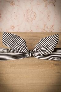 Banned Jacinta Headband Black and White Stripes 208 59 16467 20151026 0017W