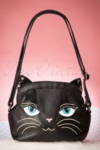 60s My Lovely Cat Bag in Black