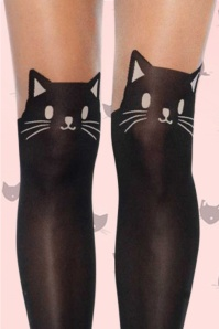 Rouge Royale Spandex Black Cat Opaque Pantyhose 171 10 17398 30102015C