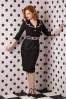 Daisy Dapper Emma Pencil Dress Black and Pink 100 10 16036 20150925 0003 WM