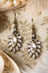 50s Sweet Leaf Pearl Earrings