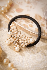 20s Pearl Butterfly in Your Hair Band