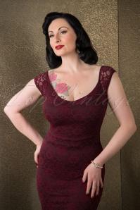 Vintage Chic Lace Pencil Dress Wine 100 20 17285 11052015 14W