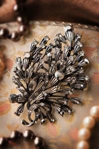 20s Crystal Bouquet Brooch Hair Clip