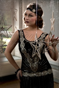 20s Zelda Flapper Dress in Black