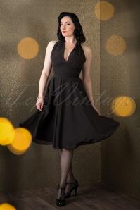 Bunny Monroe Dress in Black 102 10 16766 11052015 007W