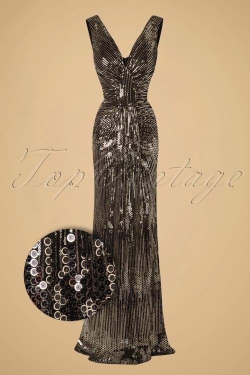 Vintage Chic Gold Maxi Sequin Dress 108 91 17299 20151106 0003W