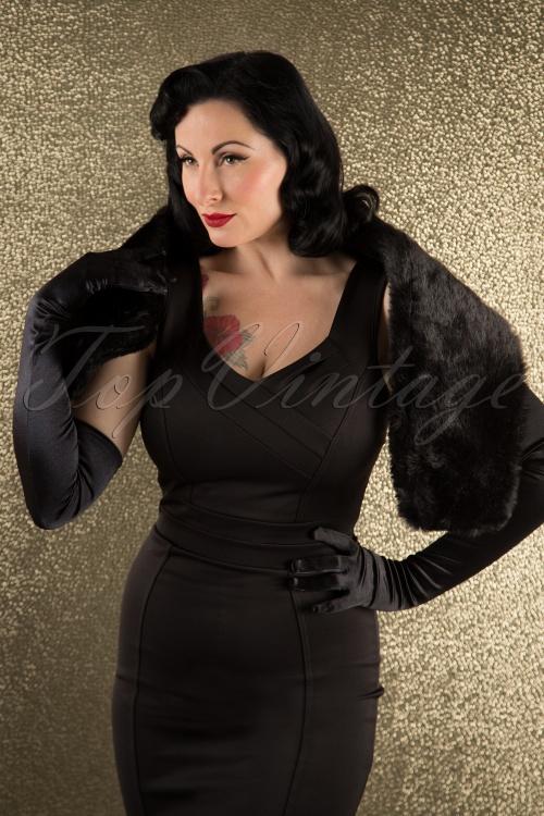 Foxy Vintage Black Faux Fur Scarf 11441 11052015 007W