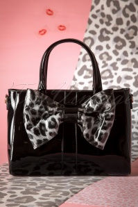 60s Wow What a Bow Handbag in Black