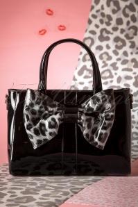 Wow What a Bow Handbag Années 1960 en Noir