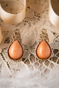 From Paris with Love Orange Water Drop Earrings 331 70 17418 11122015 002W