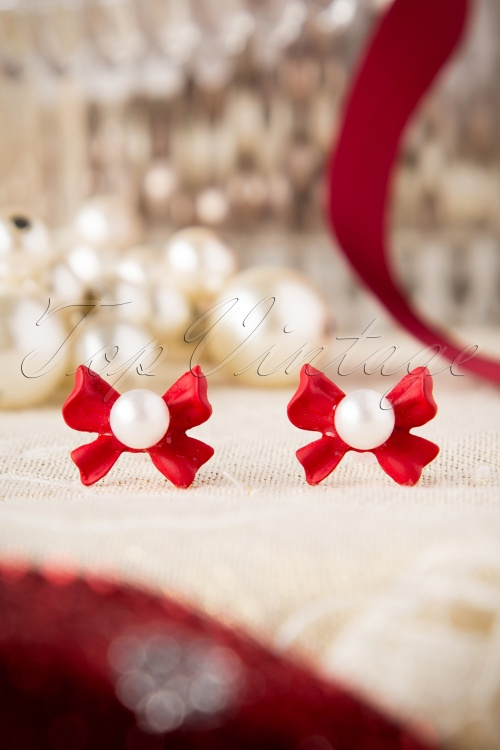 From Paris with Love Red Bow Earrings 330 20 17411 11122015 005W