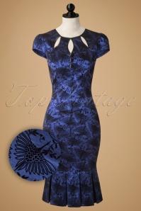 Vixen Blue Printed Bird Dress 102 39 16282 20151113 0005pop