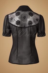 Vixen 40s Black Floral Blouse 112 10 16284 20151116 0003W