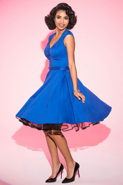 Pinup Couture Royal Blue Heidi Dress 10818 20120724 2