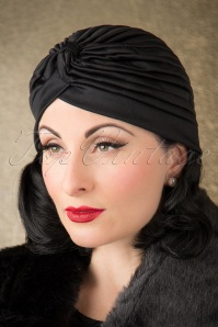 ZaZoo Plain Satin Hat Black 202 10 16340 11052015 022W