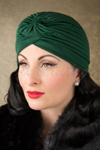ZaZoo Plain Satin Hat Green 202 40 16470 11052015 019W