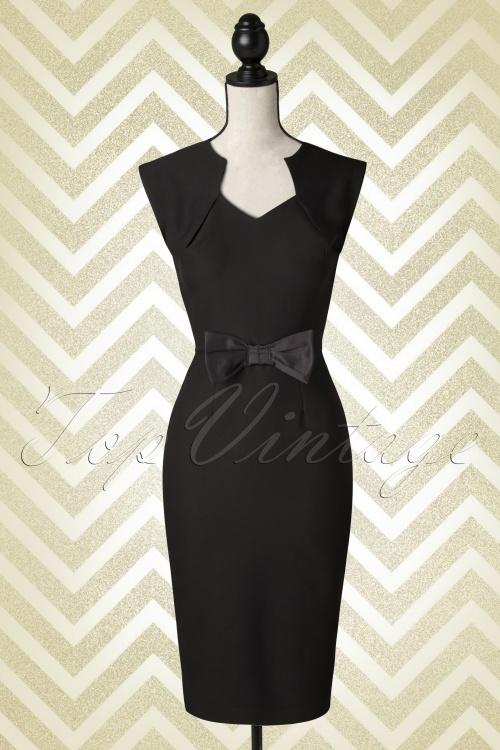 Bunny Brenda Bow Black Pencil Dress 100 10 14591 20141215 Pop