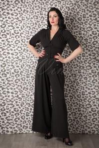 Miss Candyfloss gigi black jumpsuit  133 10 13571 20150925 0006W