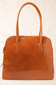 70s Classic Bag in Cognac Tan genuine leather