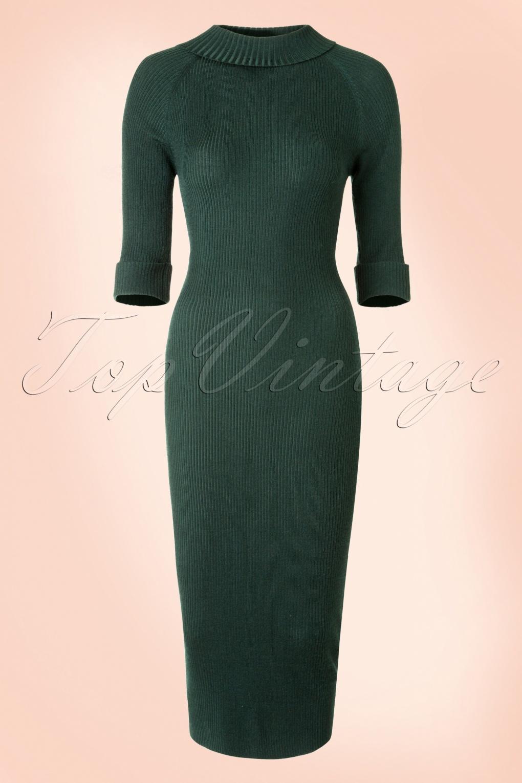 Olive Green Long Sleeve Dress