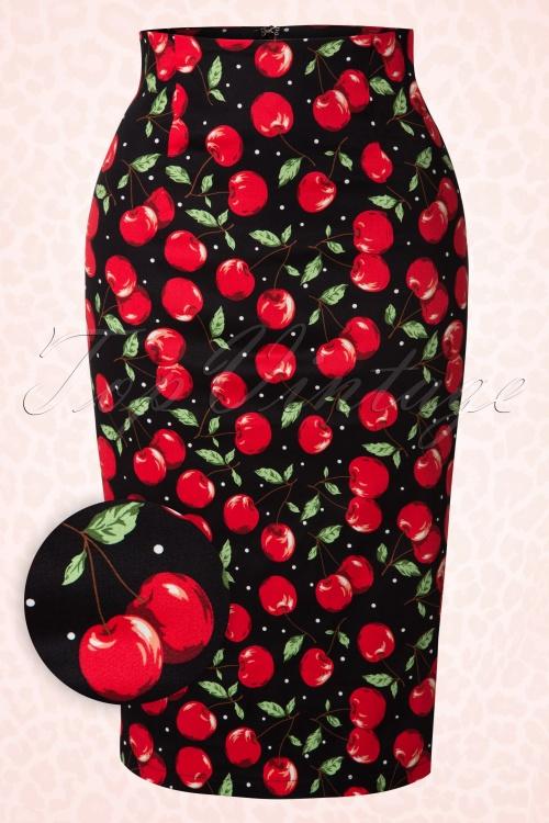 Dolly Do Falda Cherry Print Pencil Skirt 120 14 17427 20151120 0002W2