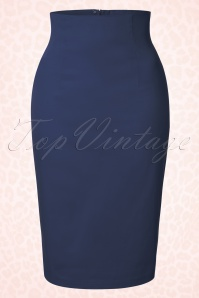 50s Falda Pencil Skirt in Navy