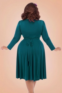 Lady V Teal Vintage Plussize Dress 102 30 17462 3