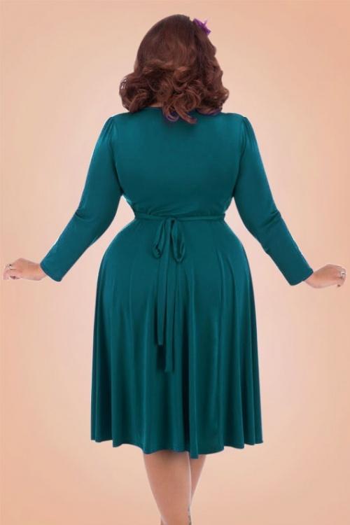 bc8637d45df Lady V Teal Vintage Plussize Dress 102 30 17462 3