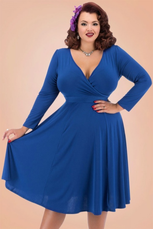 Royal Blue Vintage Dress