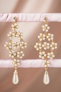 20s Pearl Power Drop Earrings